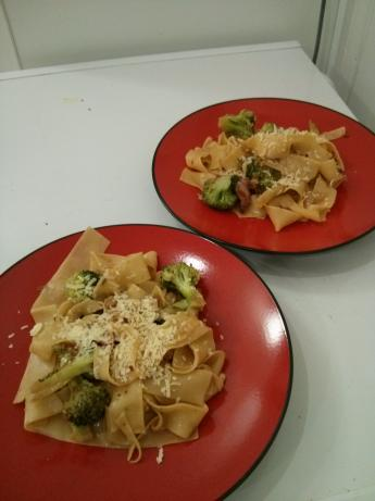 Pasta With Pancetta, Broccoli or Broccoli Rabe and Pine Nuts