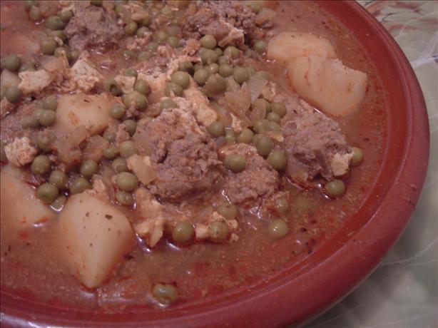 Kefta Tajine (Moroccan Spiced Meatballs W/ Eggs in Tomato Sauce)