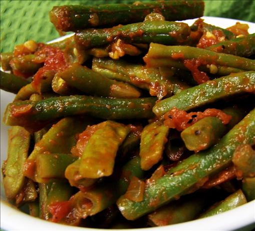 Green Beans in Tomato Salsa