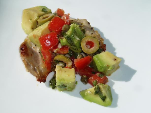 Mediterranean Chicken Breasts With Avocado Tapenade