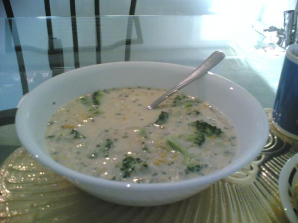 Tuna, Corn, and Broccoli Chowder