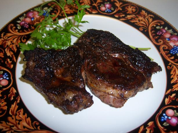 Cast Iron Grilled Chuck Eye (Poor Mans Rib-Eye) Steaks W/Spicy R