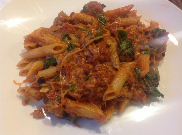 Mediterranean Penne and Sausage