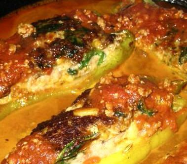 Spinach and Sausage Stuffed Peppers