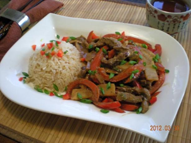 Chin Jao Ro Su (Bamboo and Bell Pepper Stir Fry)