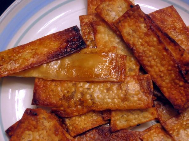 Oven-Baked Teriyaki or Thai Wonton Chips