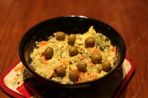 Steamed Vegetable Potato and Egg Salad
