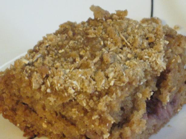 Strawberry Sour Cream Cake (Low Fat)