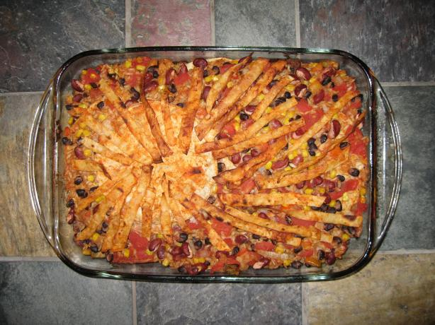 Mexican Layered Casserole Vegan(3.5 Points)