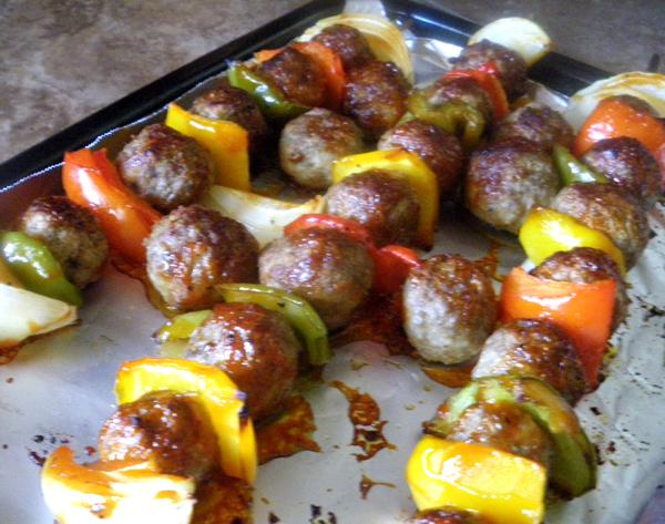 Easy Meatball Kebobs
