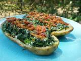 Ww 2 Points - Potato Skins With Creamy Spinach and Turkey Bacon