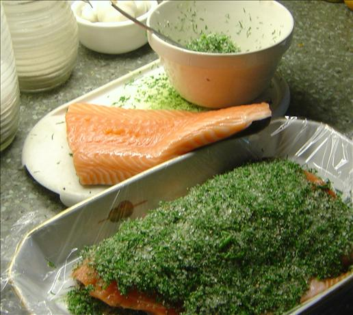Gravad Lax With a Mustard and Dill Sauce