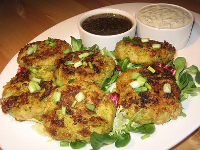Fish Patties With Two Dipping Sauces