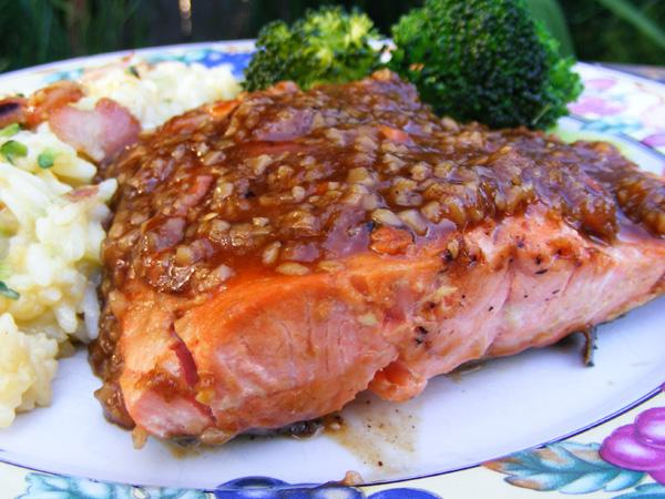 Ginger Lime Glazed Salmon