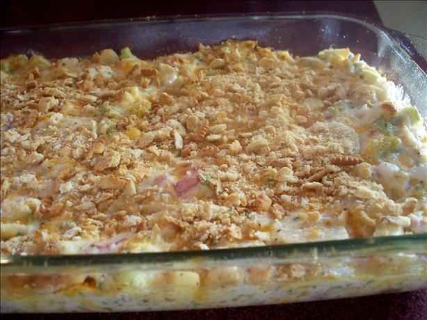 Cheesy Hot Chicken Salad Casserole