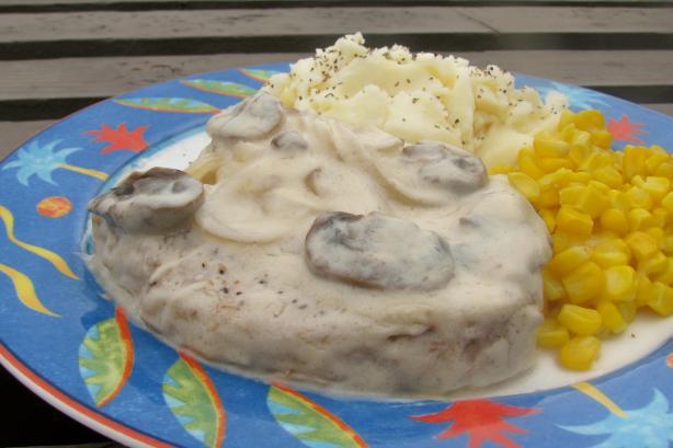 Pork Loin Chops in Mushroom Gravy