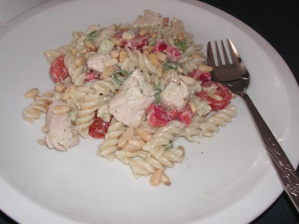 Pasta with Pesto and Poached Chicken