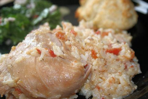 Cheesy Crock Pot Chicken With Rice