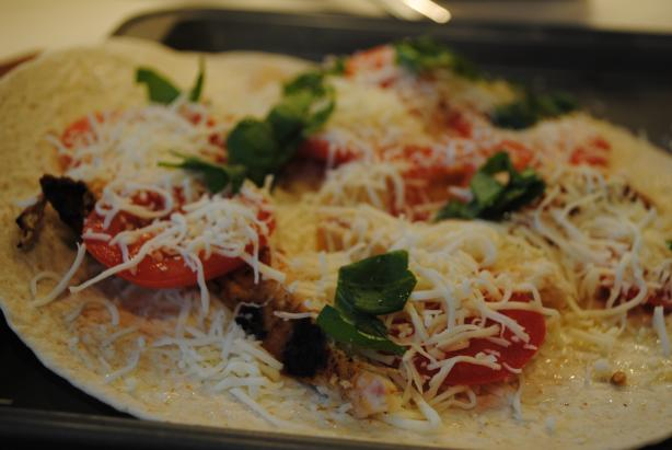 Grilled Chicken Margherita Tostada Pizzas