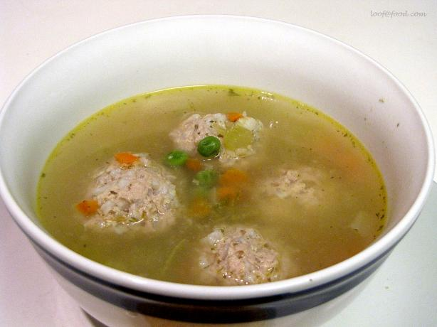 Chicken Vegetable Soup With Ginger Meatballs