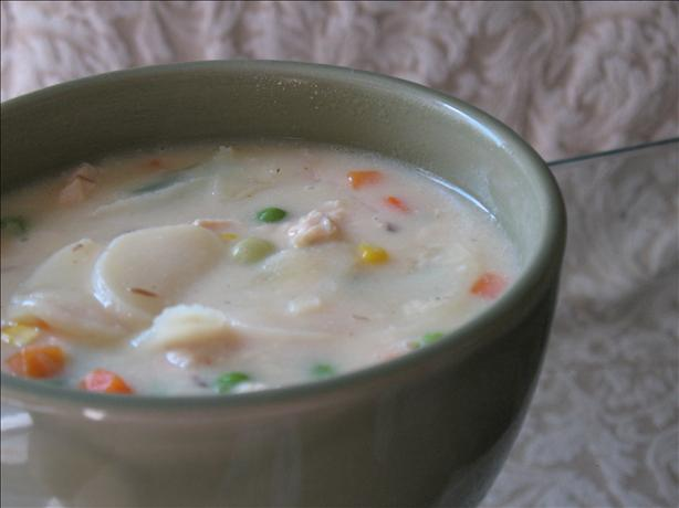 Almost Too-Easy Potato-Chicken-Cheese Soup