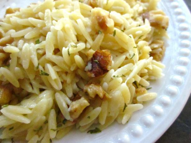 Orzo With Blue Cheese and Walnuts