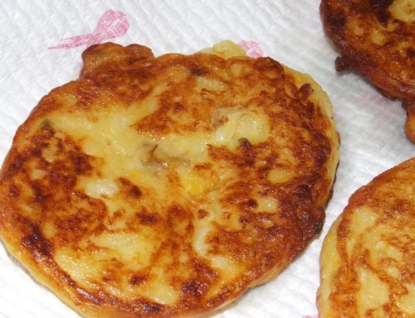 Kumara & Corn Fritters