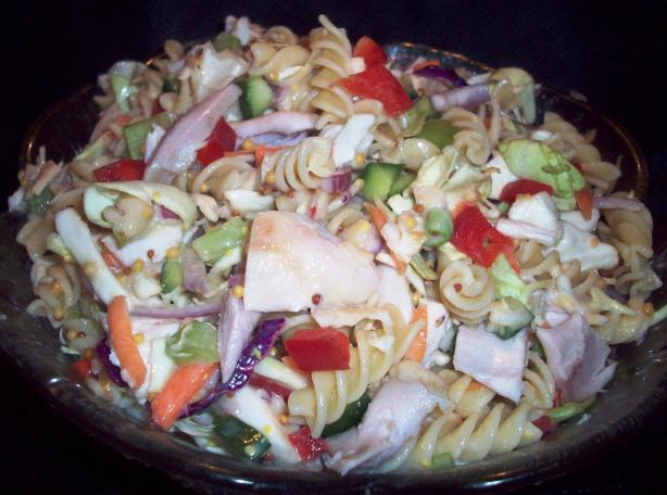 Chicken Coleslaw Pasta Salad
