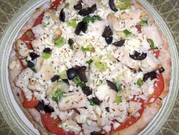 Greek Chicken Pita Pizzas