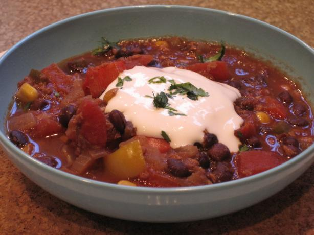 Black Bean Confetti Chili (Vegetarian)