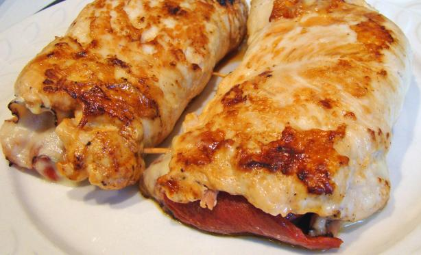 Chicken Breasts Stuffed With Ham and Cheese