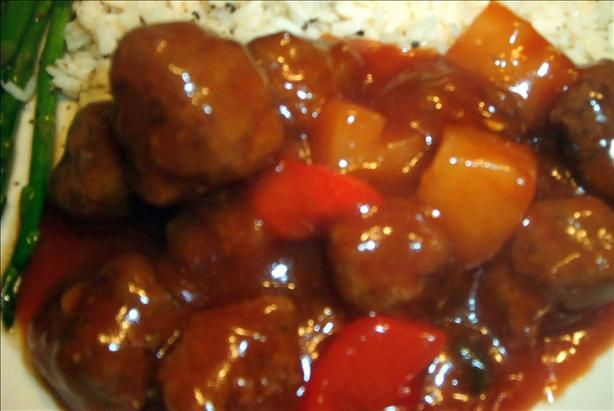 Kittencal's Easy Sweet and Sour Pineapple Meatballs