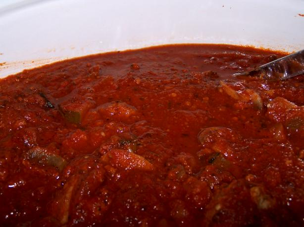 My Low Fat Option Spaghetti Sauce