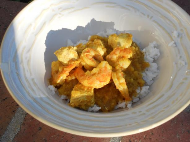 Curried Chicken and Shrimp
