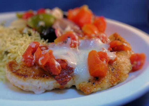 Low Fat Chicken Parmesan Mediterranean