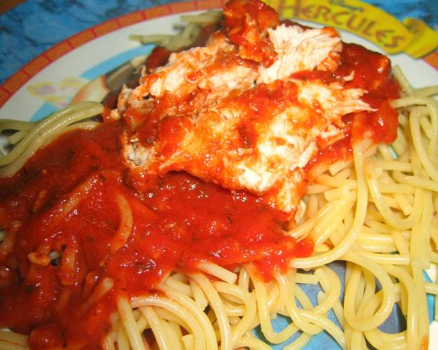 Chicken Cutlet Parmesan With Tomato Sauce