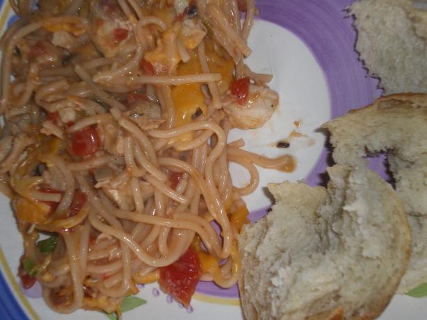 Chicken Spaghetti (Baked Spaghetti)