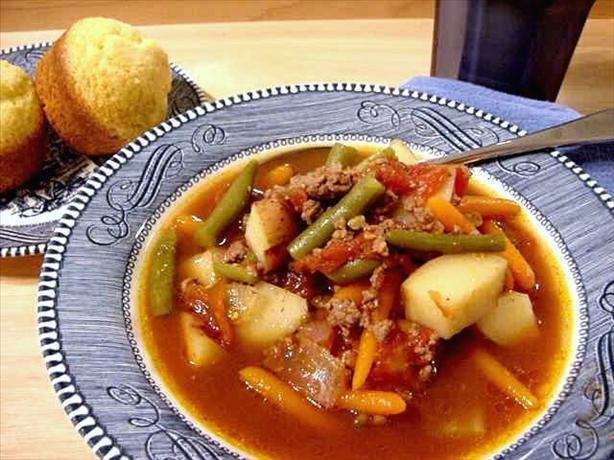 Hamburger - Vegetable Crock Pot Soup - Dairy Free