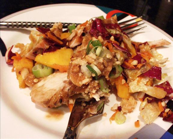 Broiled Thai Chicken With Mango Coleslaw