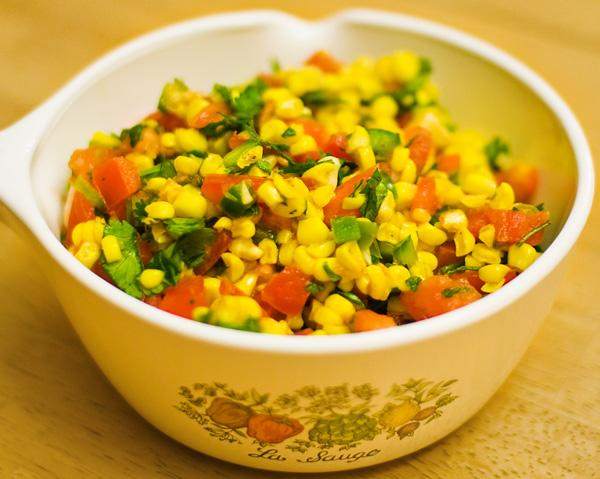 Roasted Corn and Garlic Salsa (Southwest)