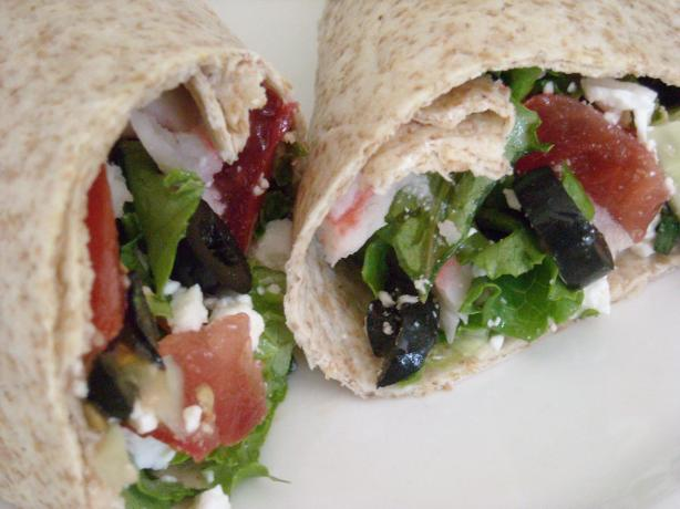 Greek Veggie Wrap (South Beach Diet Phase 2)