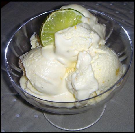 Orange & Lime Ice-Cream (No Eggs, No Ice-Cream Maker)