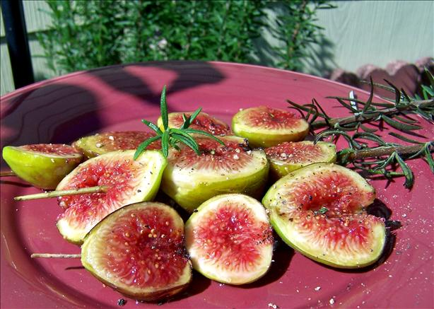 Grilled Fresh Figs on Rosemary Skewers