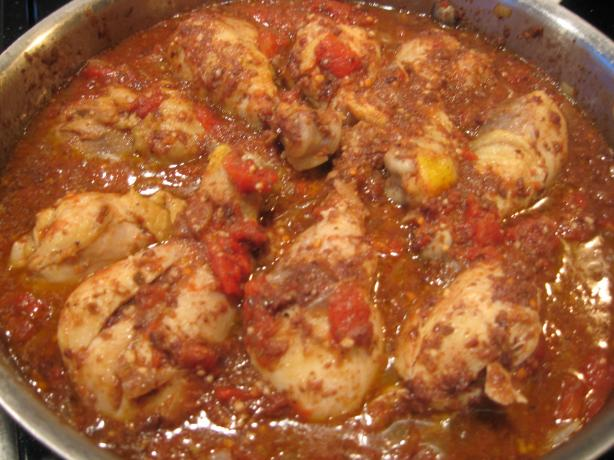 Braised Chicken Legs With Olives and Tomatoes