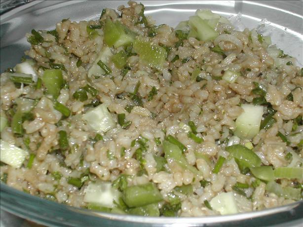 Spicy Brown Rice Salad