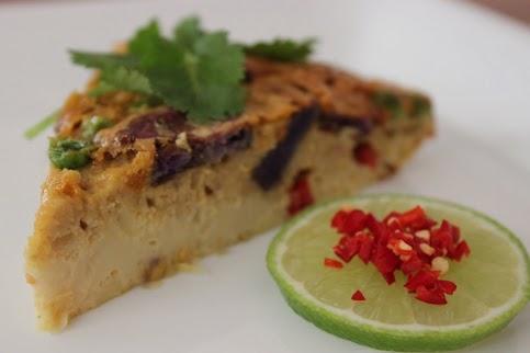 Crustless Gluten-Free Thai Massman Curry Quiche