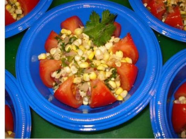 Summer Tomato Salad With Corn Salsa