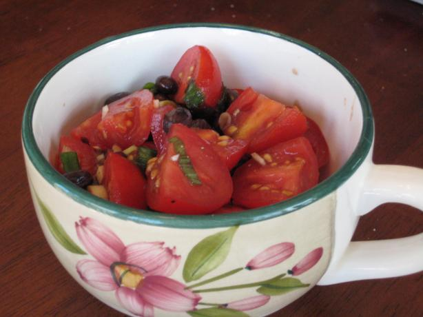 Black Beans and Tomatoes in Balsamic