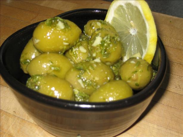 Marinated Olives With Lemon and Fresh Herbs