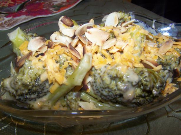 Slow Cooker Cheese Broccoli With Almonds